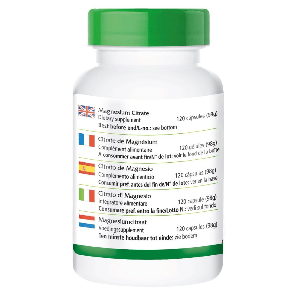 Magnesio - 1 mes - VEGAN - ALTA DOSIS - 120 cápsulas - 100 mg de magnesio por cápsula: Amazon.es: Salud y cuidado personal