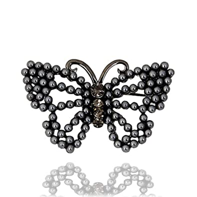 Korean version of butterfly rhinestone brooch Lady brooch pin Ladies jewelry accessory