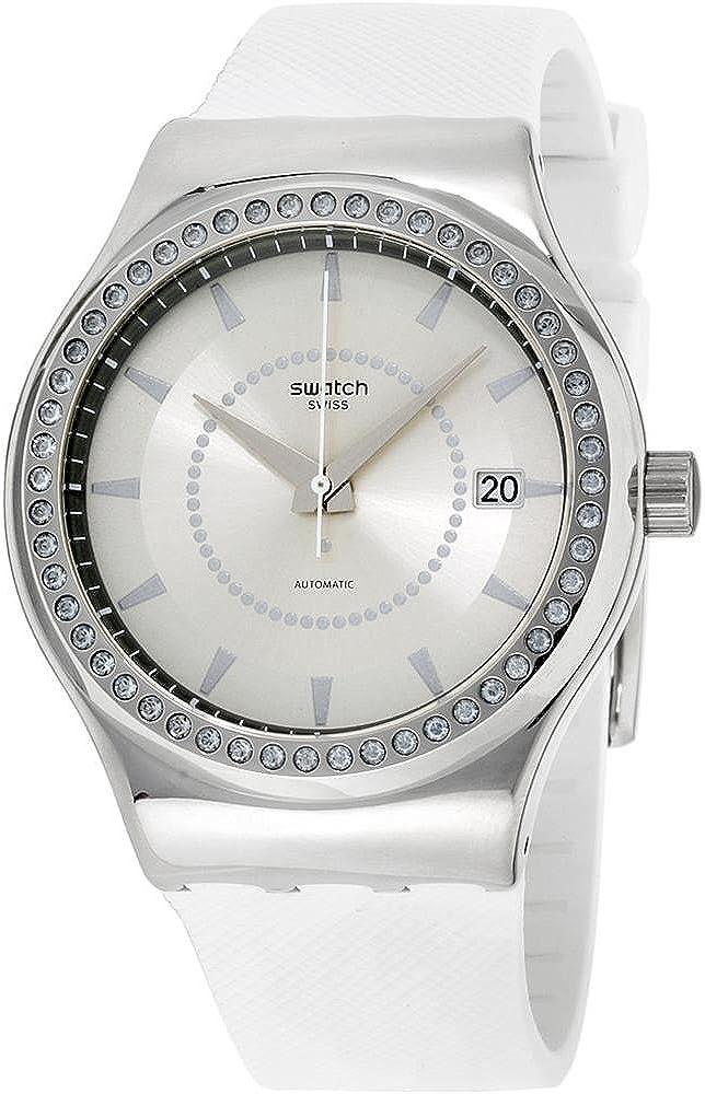 Swatch Reloj Analogico para Unisex de Automático con Correa en Caucho YIS406