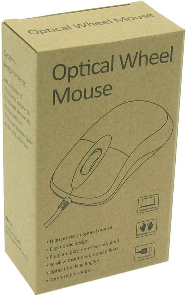 4 Pack GOWOS USB Optical Scroll Mouse Black