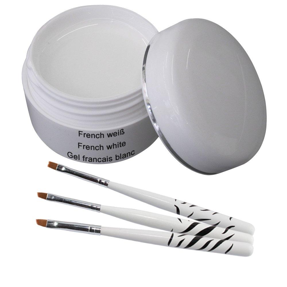 Gel UV Classic para manicura francesa 30 ml incluye 3 piezas Conjunto de cepillo kosmetik excellent
