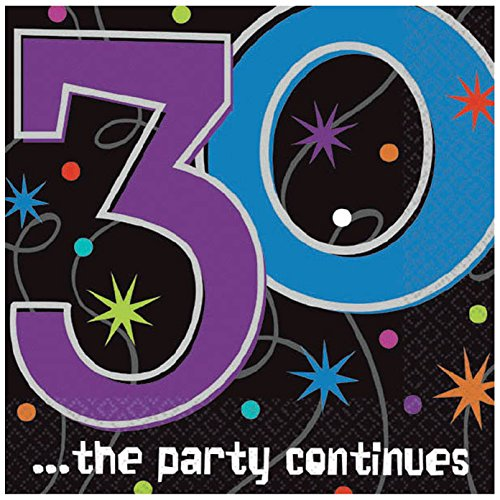 (Amscan 30 ...The Party Continues Beverage Napkins, Party Favor, 192 Ct. )