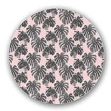 Uneekee Tropical Palms Lazy Susan: Large, Black Melamine Turntable Kitchen Storage