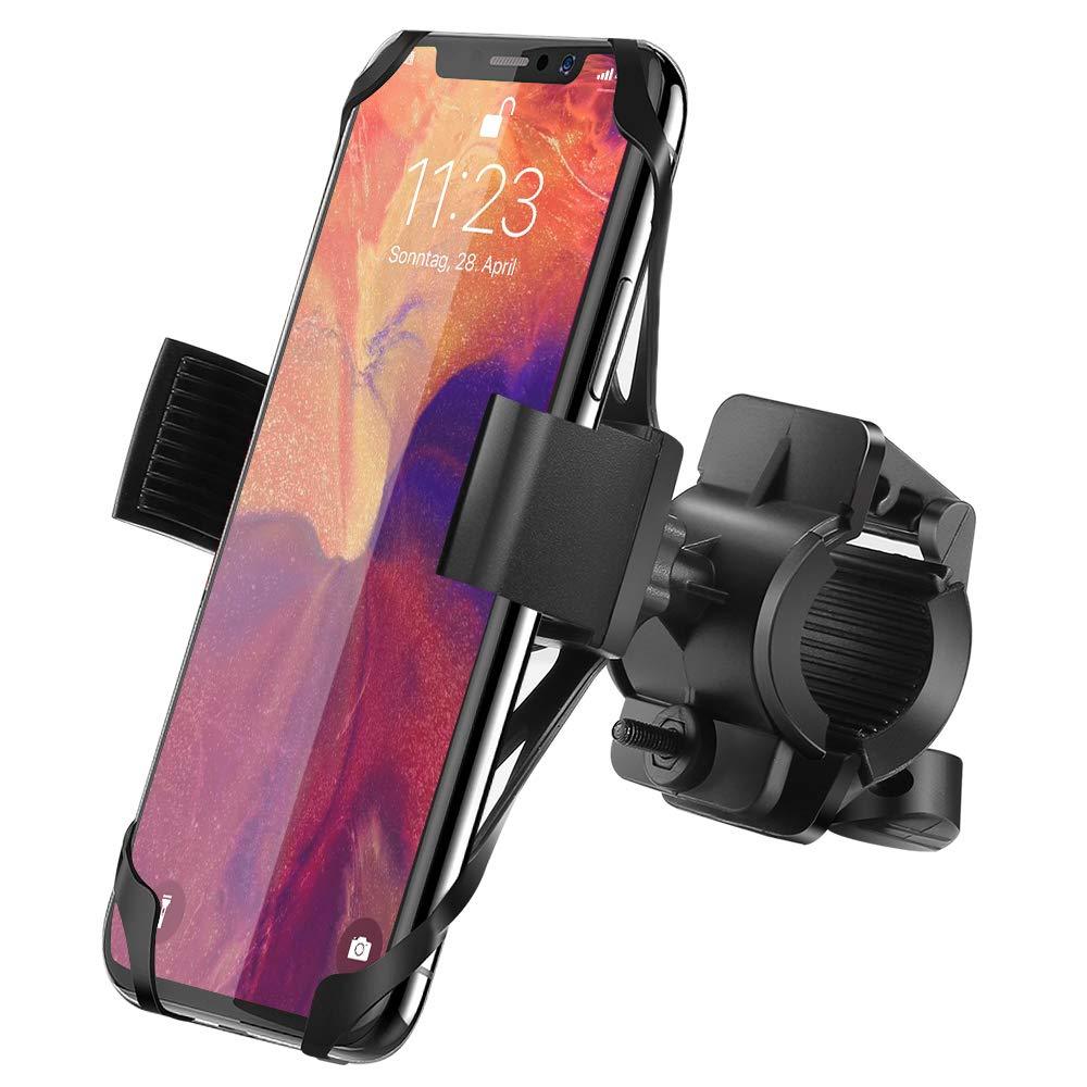 Ipow Universal Fahrrad Handyhalterung mit Metall Sockel Stabil Fahrradhalterung f/ür meisten Smartphone