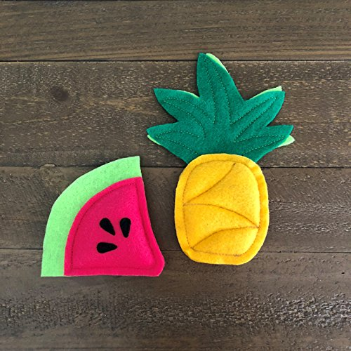Tropical Organic Catnip Cat Toy Pack - Pineapple and Watermelon by Furball Fanatic