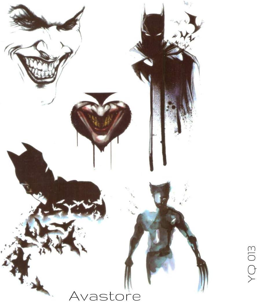 Tatuaje Temporal Batman, Joker y Wolverine – avastore: Amazon.es ...