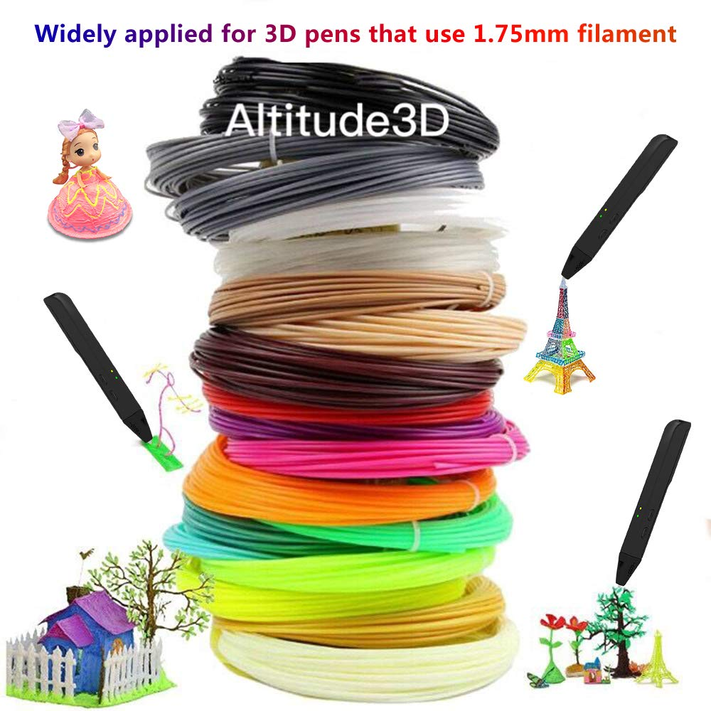 16.5 Feet Each 4 Glow + 16 Common Total 330 Feet 3D Pen PLA Filament Refills Perfect Gift Set with Individual Packs EXCLEAD 3D Printer Printing Pens PLA Filament 1.75mm 20 Colors