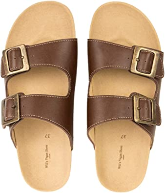 vegan footbed sandals