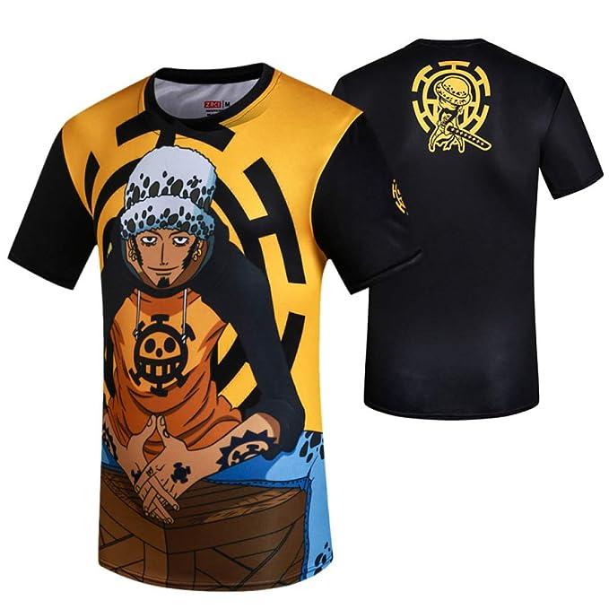 tzxdbh Anime Que rodea la Ropa de Manga Corta Camiseta Luffy ...