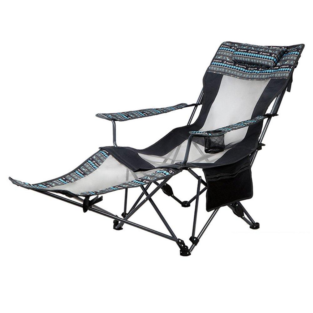 GHM Campingstuhl Outdoor-Freizeit-Klappstuhl Recliner Portable Siesta Bett Stuhl Wild Klappstuhl