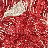 Pillow Sham Villa Garnet Palm Leaf Red Linen