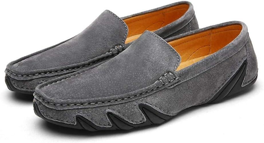 Color Suede Driving Shoes Men's Slip-on