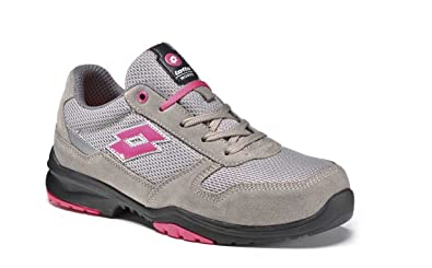 Scarpe antinfortunistiche DONNA Lotto Works FLEX EVO 500 S1P Grigio Rosa -  Memory Foam 771205