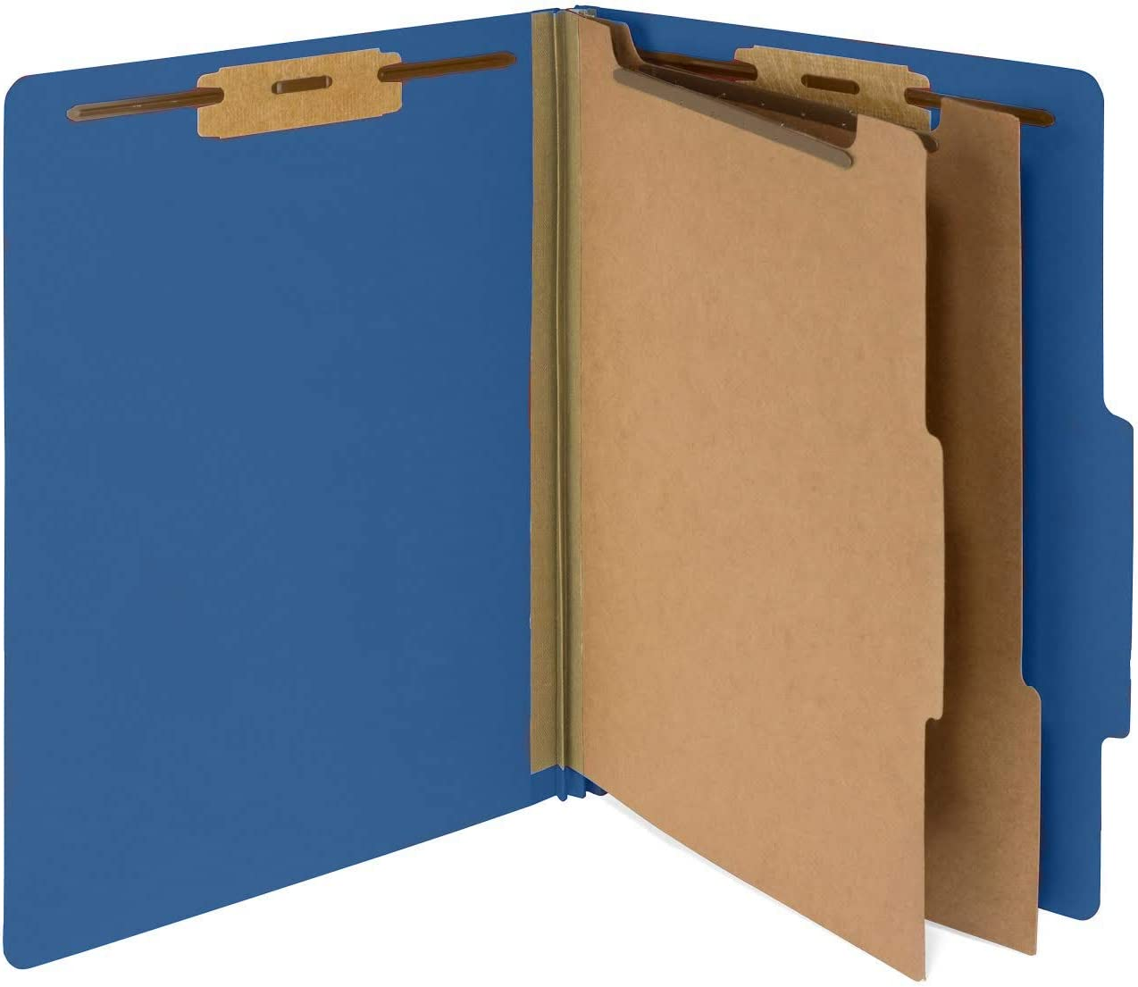 10 Dark Blue Classification Folders - 2 Divider - 2 Inch Tyvek Expansions - Durable 2 Prongs Designed to Organize Standard Medical Files, Law Client Files - Letter Size, Dark Blue, 10 Pack 612Oi6FzLhL