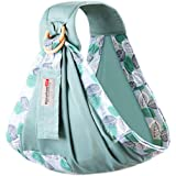 BUDOUMAMA Wrap Baby Carrier, Grey - Original Stretchy Infant Sling, Perfect for Newborn Babies and Children up to 35 lbs