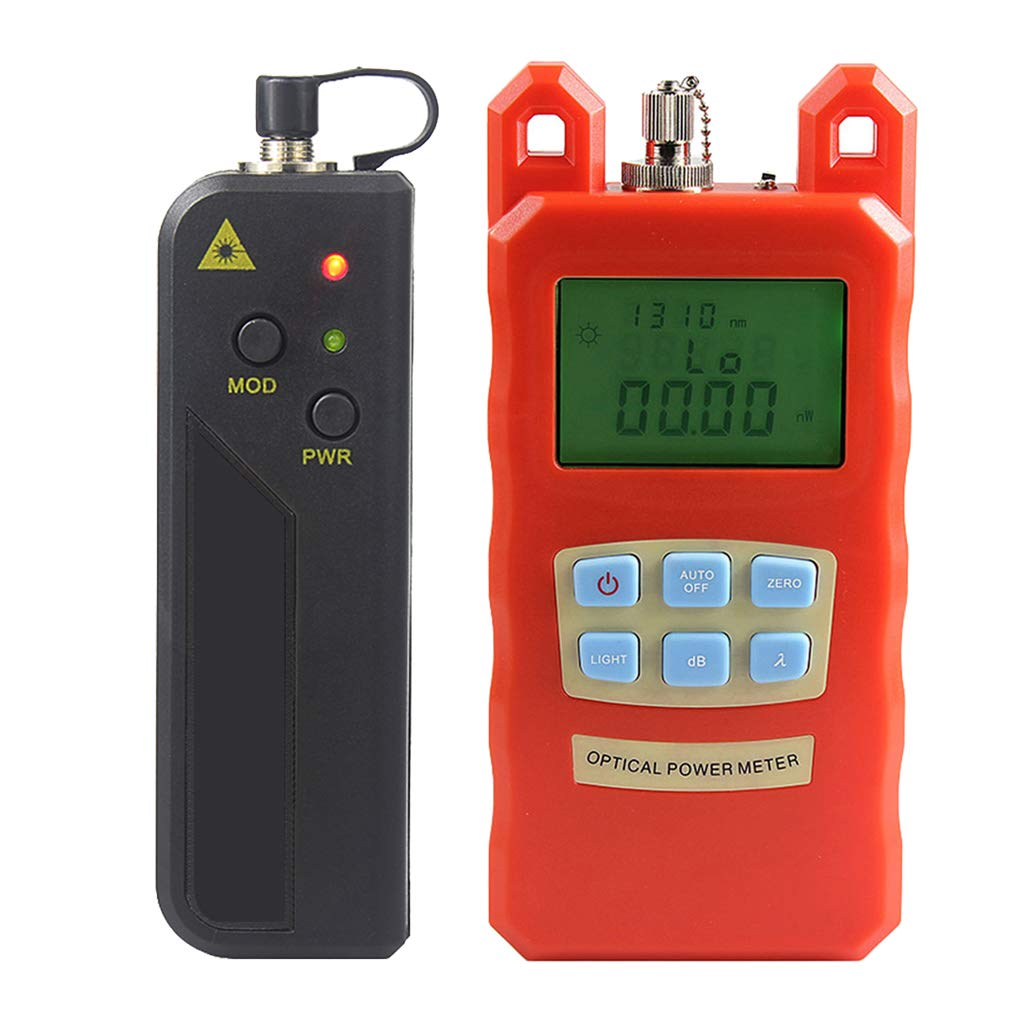 Prettyia Fiber Optic Cable Tester Visual Fault Locator Optical Power Meter with Sc and Fc Connector Fiber Tester with 30mW Visual Fault Locator Equipment