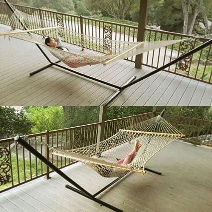 Amazon Com Double Hammock Tree 2 People Person Patio Bed Swing New