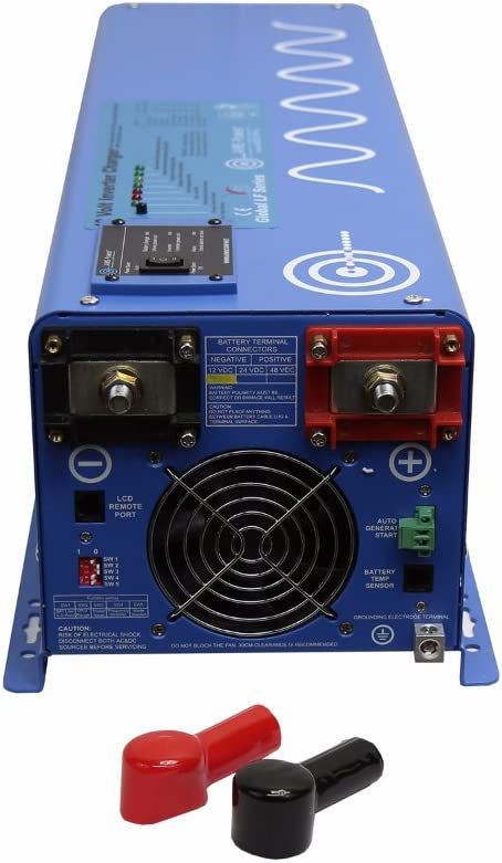 12000 W Peak Pure Sine Inverter Charger 12VDC 240VAC Input to 120//240 VAC Backup Power AIMS PICOGLF40W12V240VS 4000 W