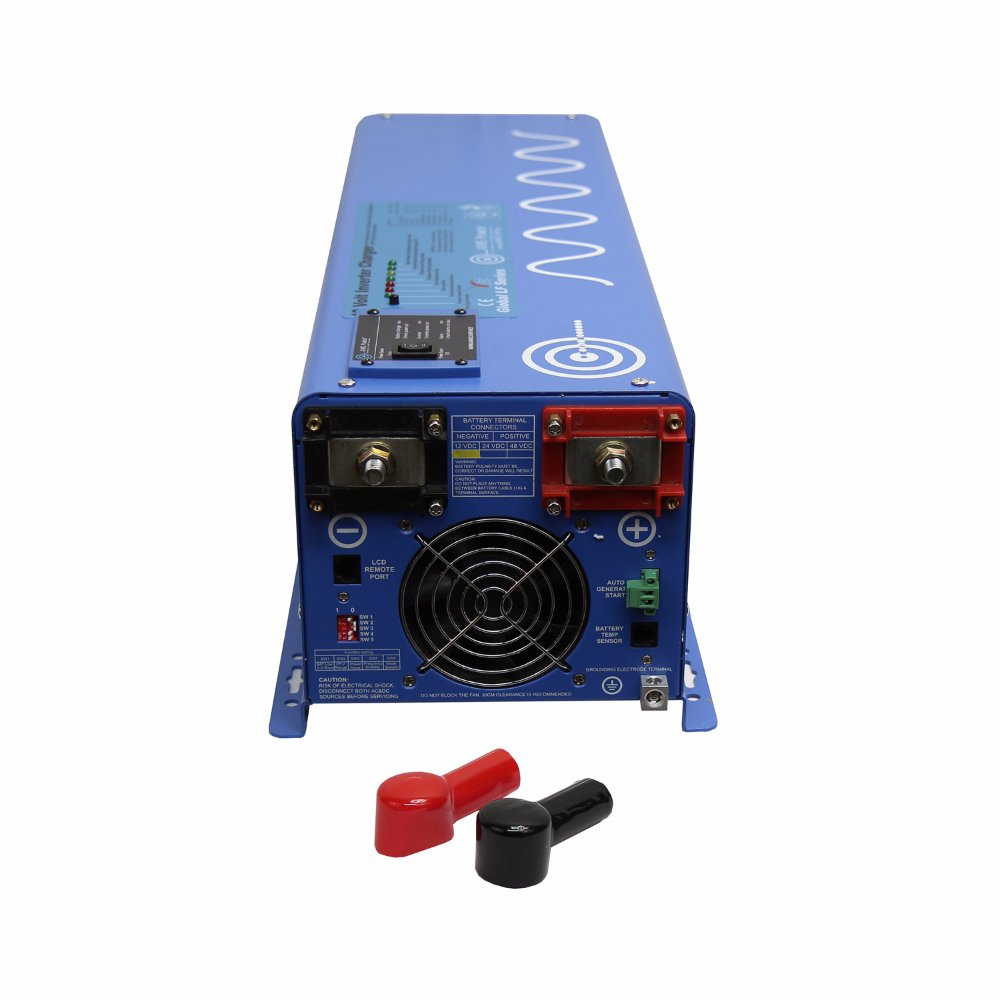 AIMS Power PICOGLF40W24V120V 4000 Watt Pure Sine Inverter Charger, 24Vdc To 120Vac Output, Remote Panel Available, Auto Frequency, Terminal Block, Multi Stage Smart Charger, 7 Battery Type Settings by AIMS Power (Image #2)