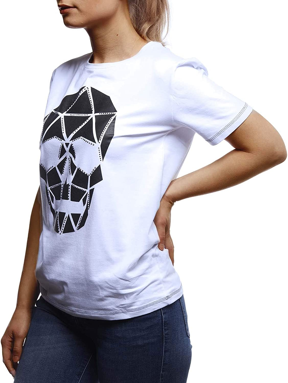 Leif Nelson Damen Sommer T-Shirt Rundhals Ausschnitt Slim Fit Baumwolle-Anteil Oberteile Frauen Tshirt Kurzarmshirt Crew Neck Sweatshirt Kurzarm lang LN5434