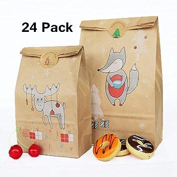 24 Piezas Bolsas de barra de caramelo, papel bolsas de papel ...