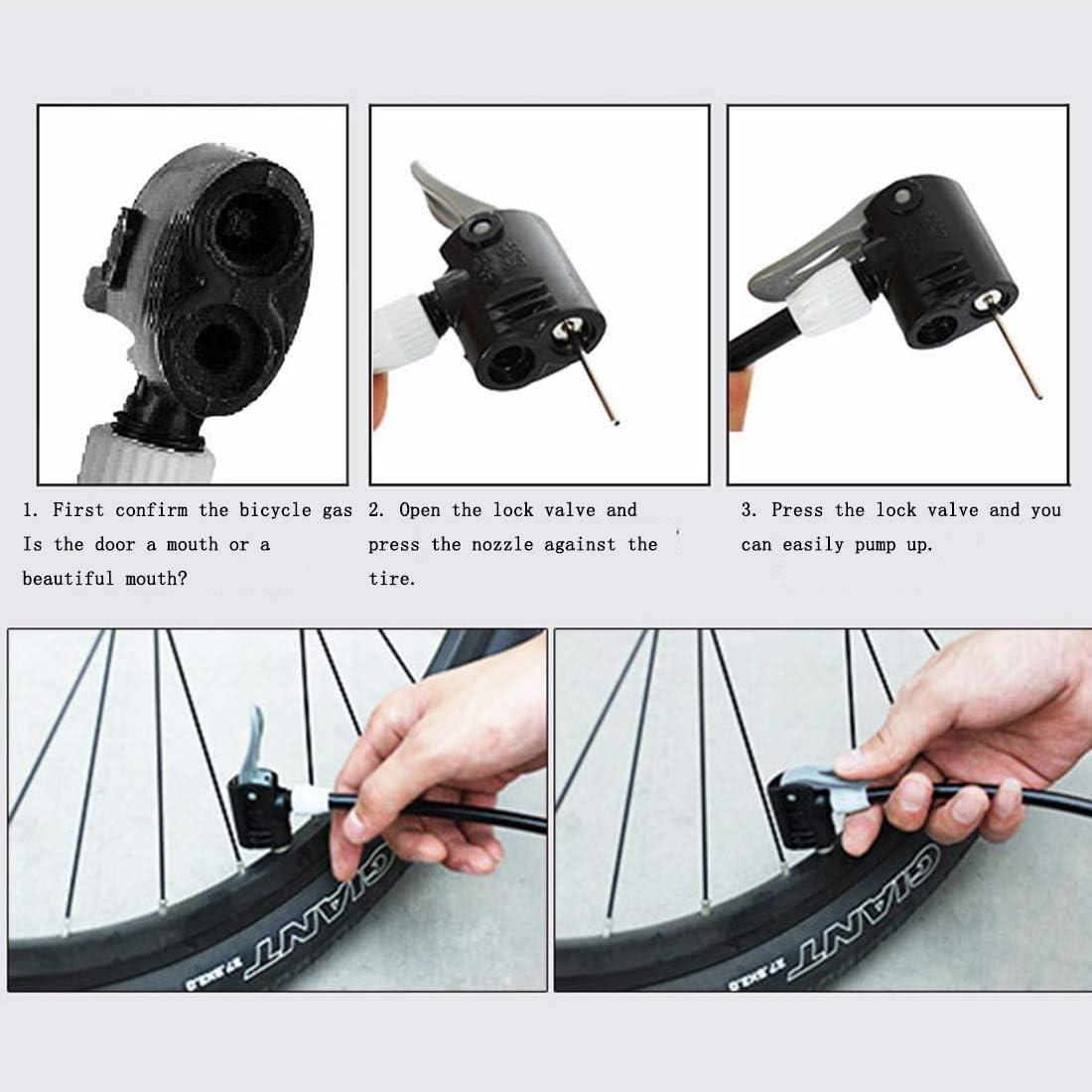 Bike Pump Mini Portable Pump Bicycle Foot Pressure Gauge Tire Light Air Pump
