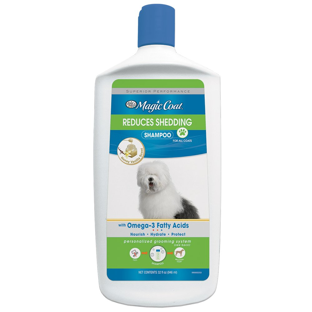 32 oz Four Paws Magic Coat Reduces Shedding Dog Shampoo, 32 oz