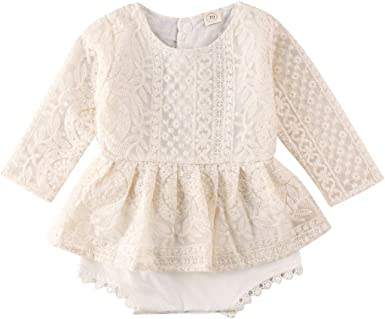Baby Girls Summer Lace Romper Dress One-Piece Jumpsuit