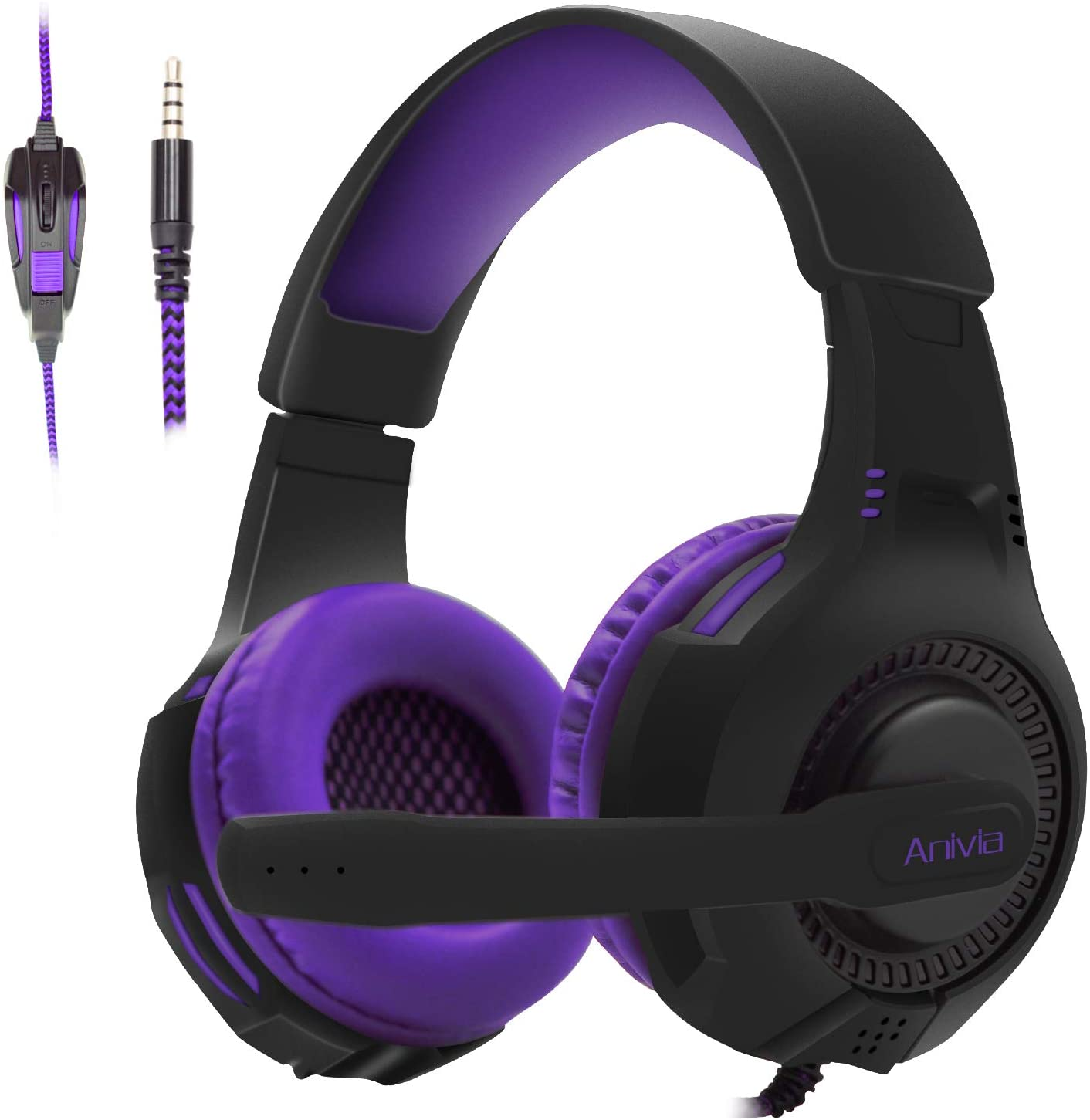 Anivia AH28 gaming headset has highly sensitive Omnidirectional microphones that offer clearer sound effects and voice quality along with reduced background noise
