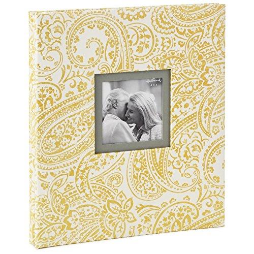 Hallmark Gold Shimmer Paisley Refillable Photo Album Photo Albums ()
