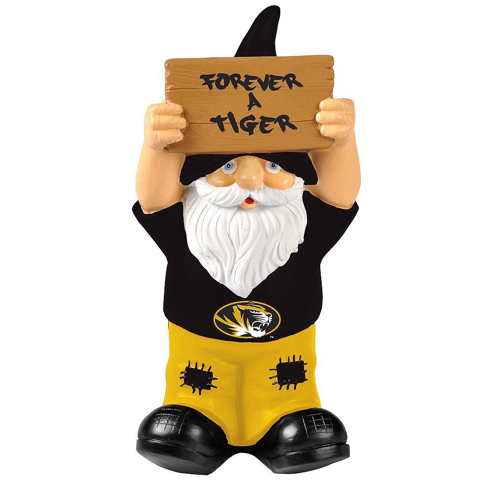 Elite Fan Shop Missouri Tigers Garden Gnome - Black