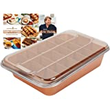 "Copper Chef Bake & Crisp Portion Control Adjustable Divider Bake and Roast Dish Lasagne/Casserole/Pies 12.5"" x 9"" x 3"" (32 x 23 x 8 cm) (As Seen on High Street TV) (Large)"