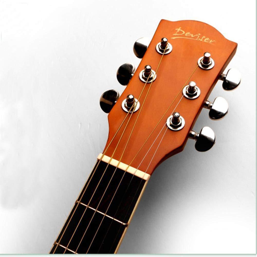 North King Tipo de ángulo D de balada Guitarra Guitarra acústica 52 Pulgadas Sapele Guitarra Adultos Instrumento de la música: Amazon.es: Jardín
