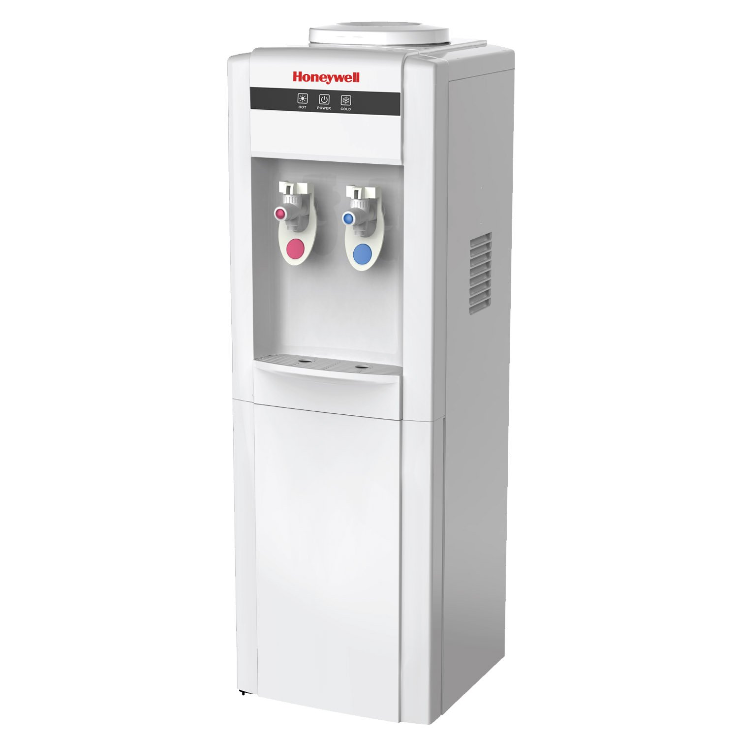 Honeywell HWB1052W Cabinet Freestanding Hot and Cold Water Dispenser with Stainless Steel Tank to help improve water taste and avoid corrosion, Child Safety Lock for Hot Water, White by Honeywell (Image #1)