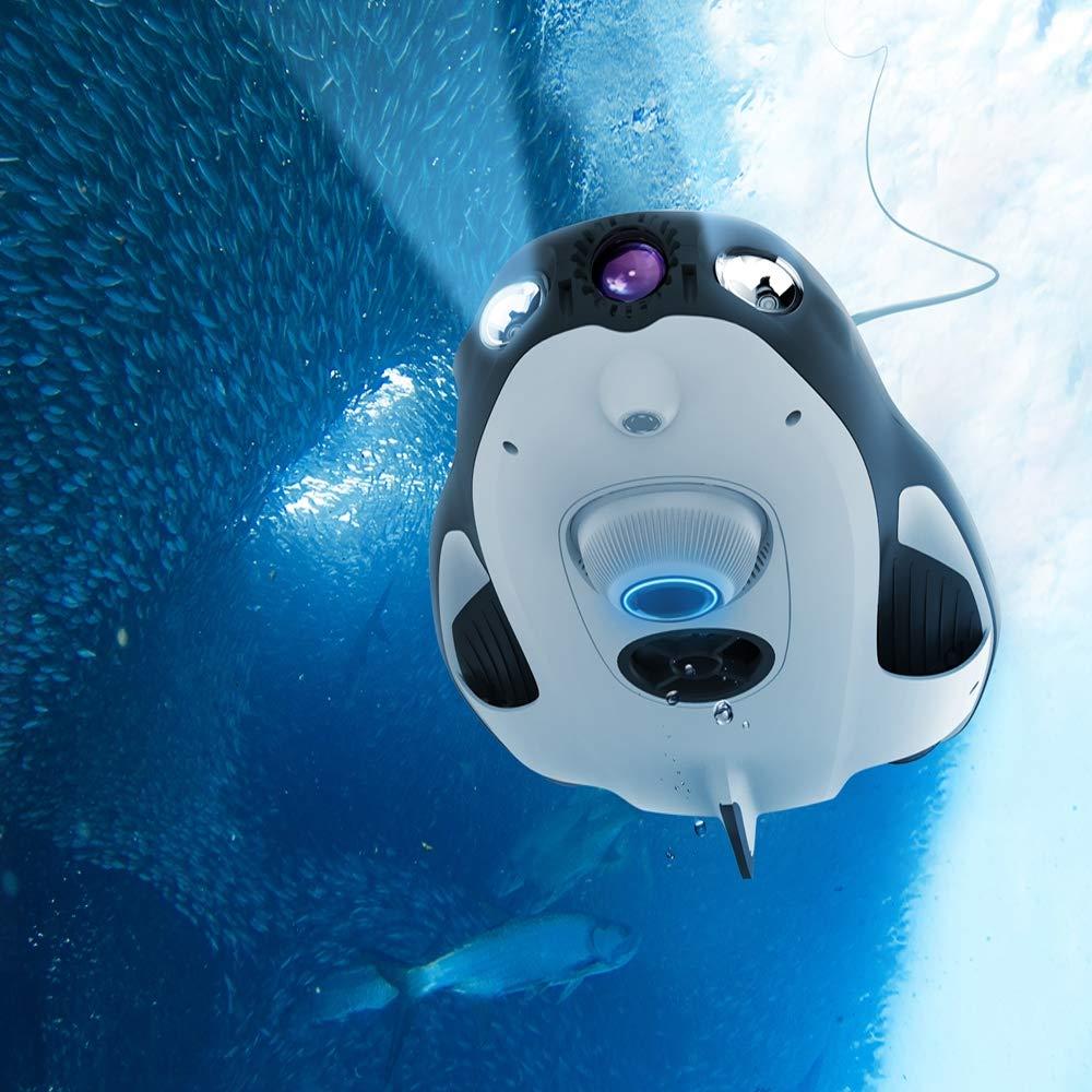 FOWYJ Drone subacuático, cámara 4K HD Drone de Pesca Profesional ...