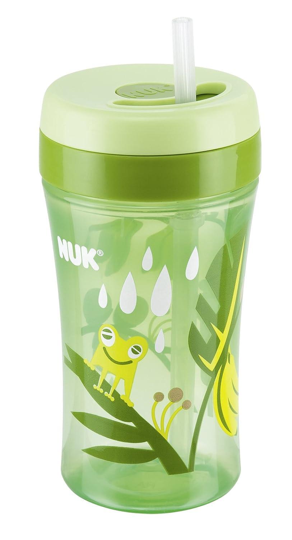 300 ml Farbe gr/ün mit versenkbarem Trinkhalm aus Silikon BPA-frei NUK 10255188 Easy Learning Cup Fun f/ür Kinder ab 18 Monaten