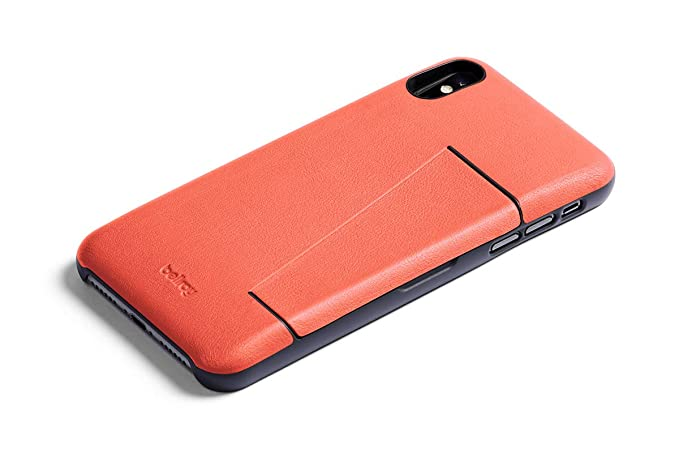 finest selection cf533 25e98 Bellroy Leather iPhone Xs Phone Case - 3 Card - Coral