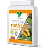 Organic Turmeric Curcumin High Strength Capsules with Black Pepper Extract 600mg | Letter Box Friendly Flat Postal Bottle | Maximum Absorption | 2 Month Supply | Vegan Friendly | Made in the UK