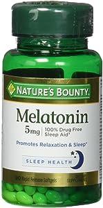 Nature's Bounty Super Strength Melatonin, 5 mg, 90 Softgels
