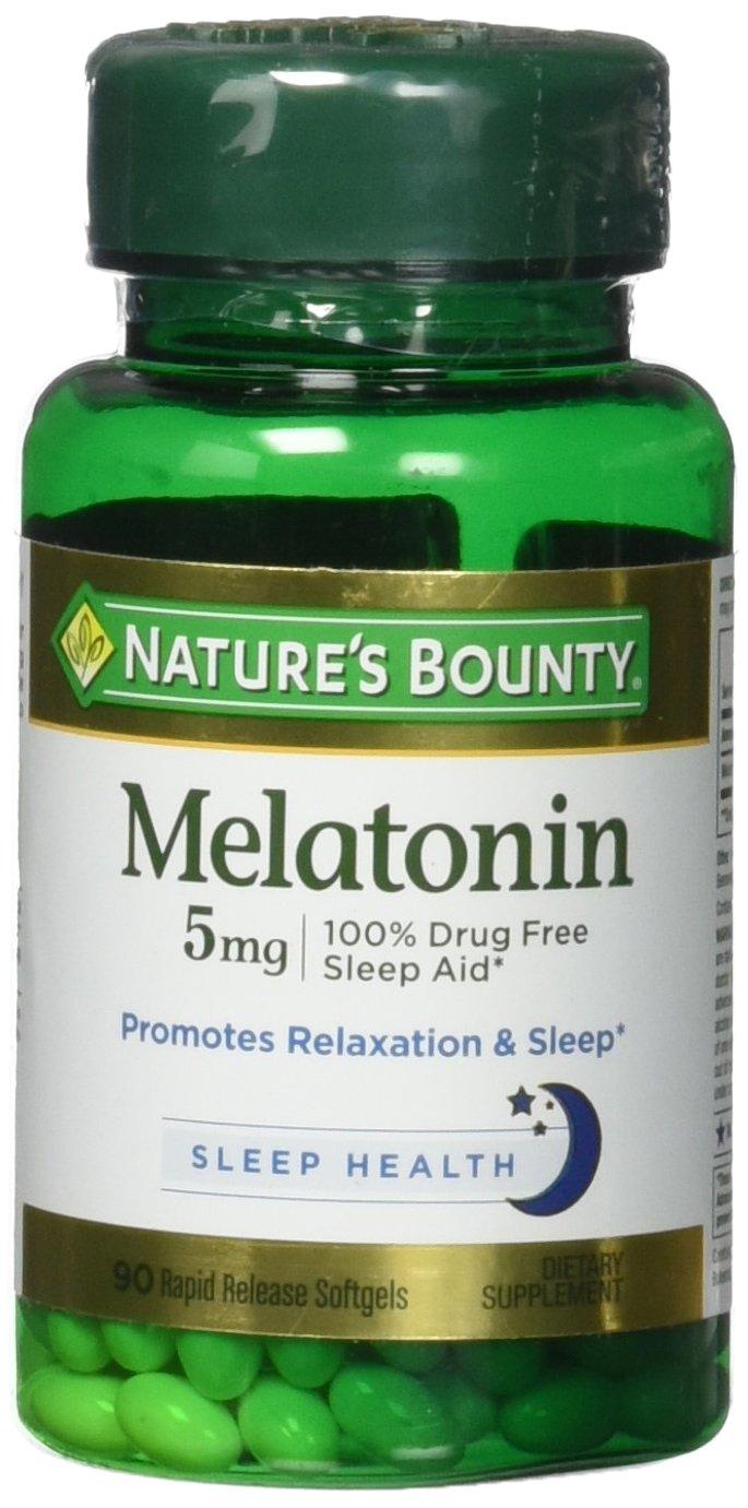 Amazon.com: Natures Bounty Melatonin 5mg, 360 Softgels (4 X 90 Count Bottles): Health & Personal Care