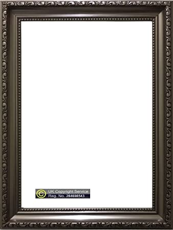 ornate shabby chic plastic gunmetal colour picture photo frame a1 a2 a3 poster frame 24