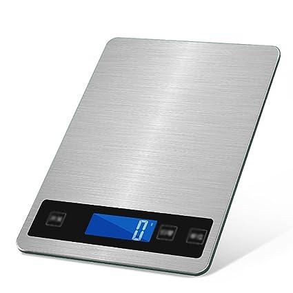 Balanzas de Cocina Recargables a Prueba de Agua Balanzas electrónicas para Hornear en el hogar Gramos