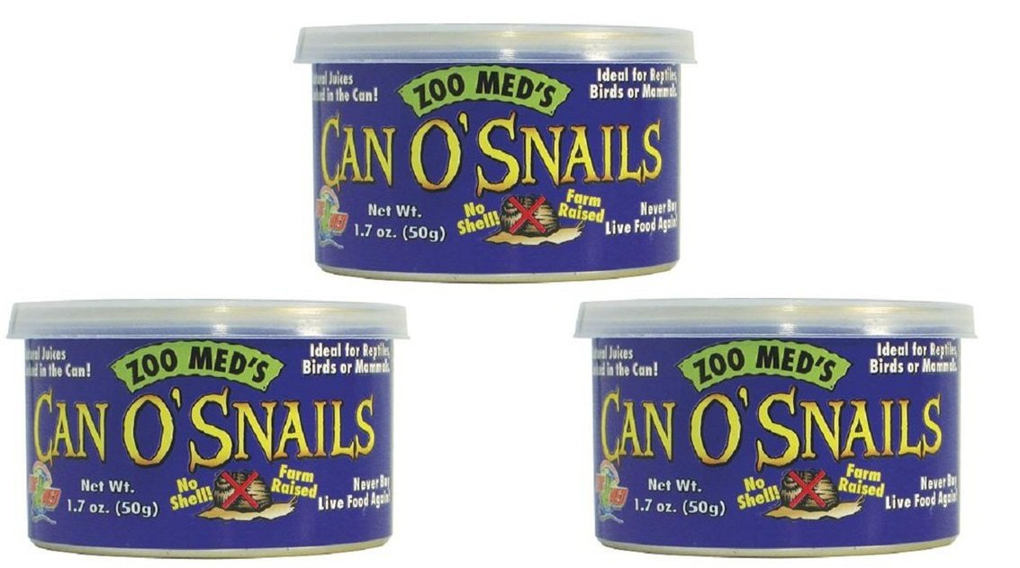 3 Pack Zoo Med Can O' Snails Turtle Food, 1.7-Ounce (Pack of 3)