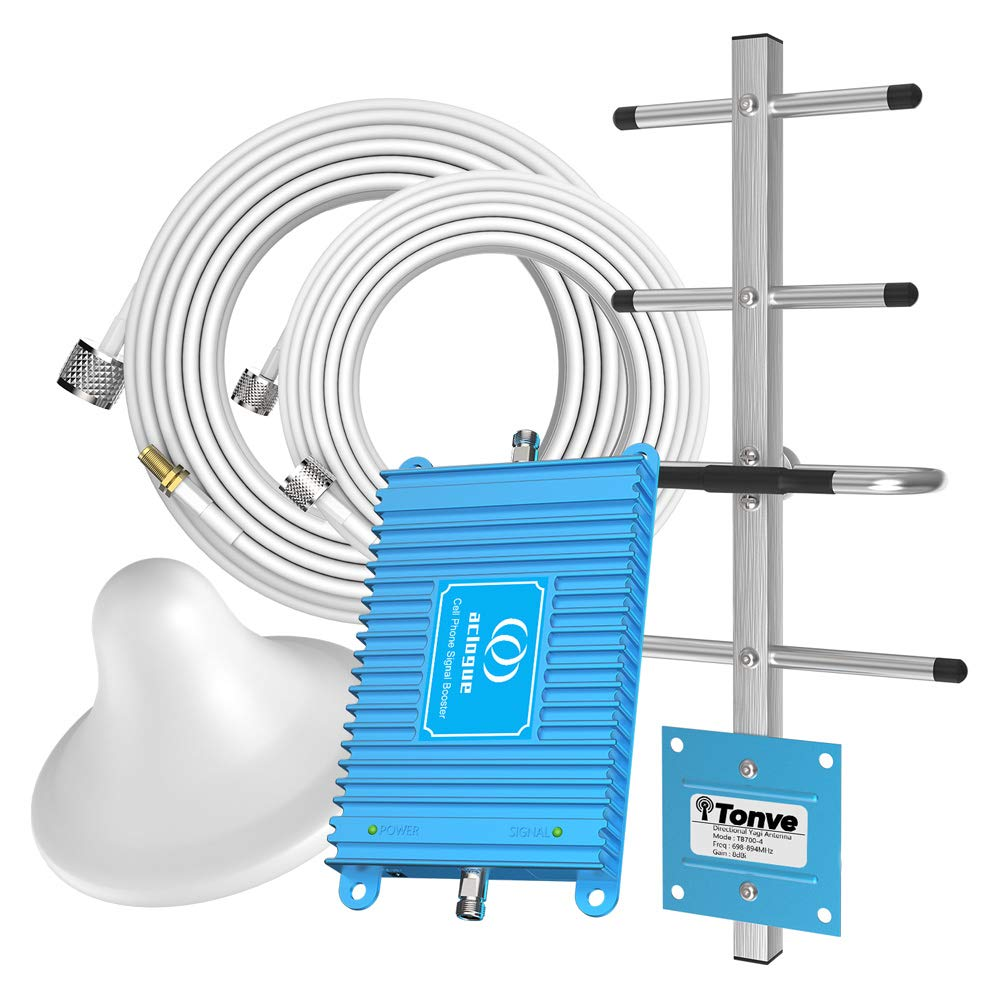 Home 4G LTE Cell Phone Signal Booster for Verizon Phone 700MHz Band 12/13/17 FDD Mobile Phone Booster Repeater Amplifier Antenna Kits Compatible with AT&T,T-Mobile, Straight Talk, U.S. Cellular