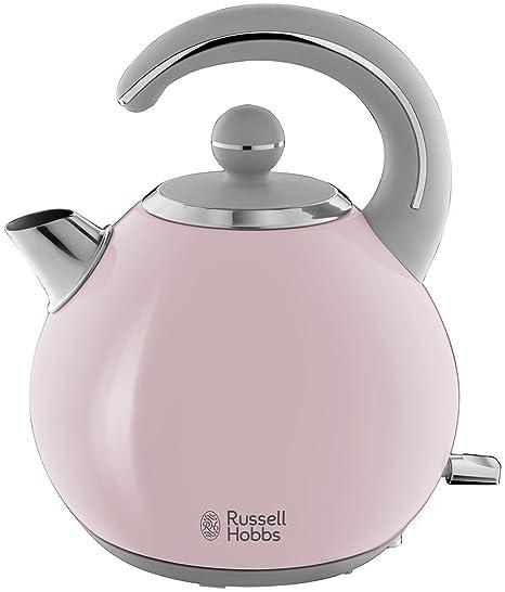Russell Hobbs Bubble - Hervidor de Agua Eléctrico (2300 W, 1,5 l, Acero Inoxidable, Rosa Pastel) - ref. 24402-70