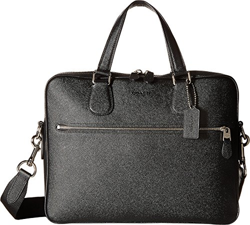 Coach Men's Hudson 5 Bag Silver/Black Laptop Bag