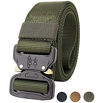 Militar-TLD Cinturon Tactico Ajustable Airsoft Painball Caza Combate táctico  cinturón 18938ba05582