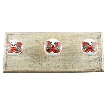 IndianShelf - Perchero de pared hecho a mano, 2 piezas, de ...