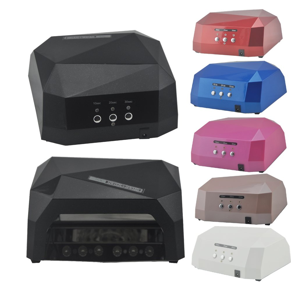 CocoFang 36W(Uv+LED) Nail Art Gel Polish Dryer Curing Lamp Machine Nail Polish Tools with Timer (Black)