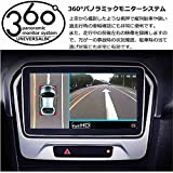 12V車用汎用360°パノラミックモニターシステム(画像調整マット付) 全方向カメラ 360°録画もできる